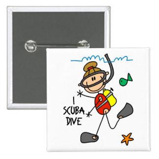 Scuba Diving Gift Button