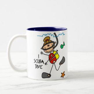 Scuba Diving Gift Two-Tone Coffee Mug