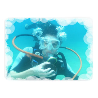Scuba Diving 5x7 Paper Invitation Card