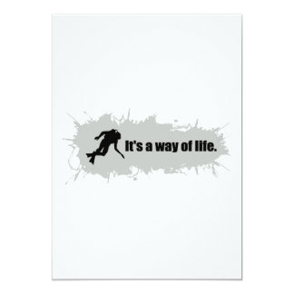 Scuba Diving is a Way of Life 13 Cm X 18 Cm Invitation Card