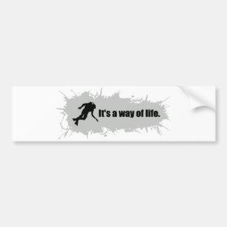 Scuba Diving is a Way of Life Bumper Sticker