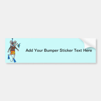 Scuba Diving Mouse Bumper Sticker