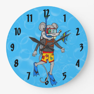 Scuba Diving Mouse Wall Clock