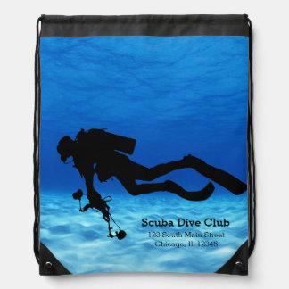 Scuba Diving Drawstring Bag