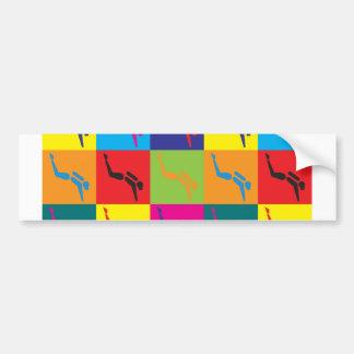 Scuba Diving Pop Art Bumper Sticker