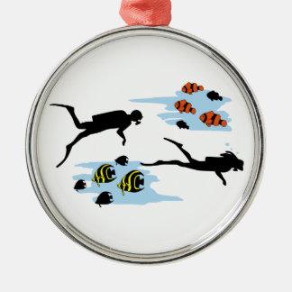 Scuba Diving Scene Christmas Ornament