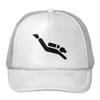 Scuba Diving Symbol Hat