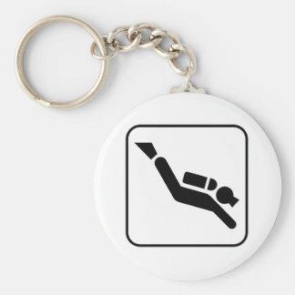 Scuba Diving Symbol Keychain