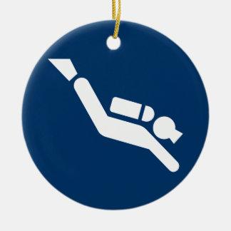 Scuba Diving Symbol Ornament