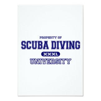 Scuba Diving University 13 Cm X 18 Cm Invitation Card