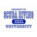 Scuba Diving University Postcard