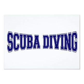 Scuba Diving University Style 13 Cm X 18 Cm Invitation Card