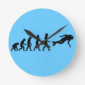 Scuba Diving Water Sport Wallclocks