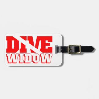 Scuba Diving Widow Bag Tag