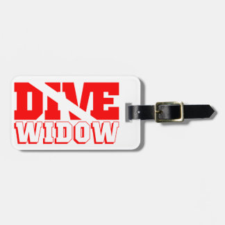 Scuba Diving Widow Luggage Tag