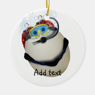 SCUBA Egg - Venture Double-Sided Ceramic Round Christmas Ornament