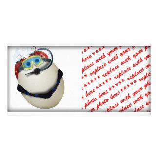 SCUBA Egg - Venture Personalized Photo Card