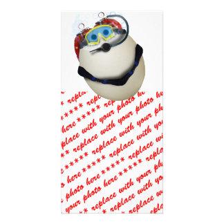 SCUBA Egg - Venture Customized Photo Card
