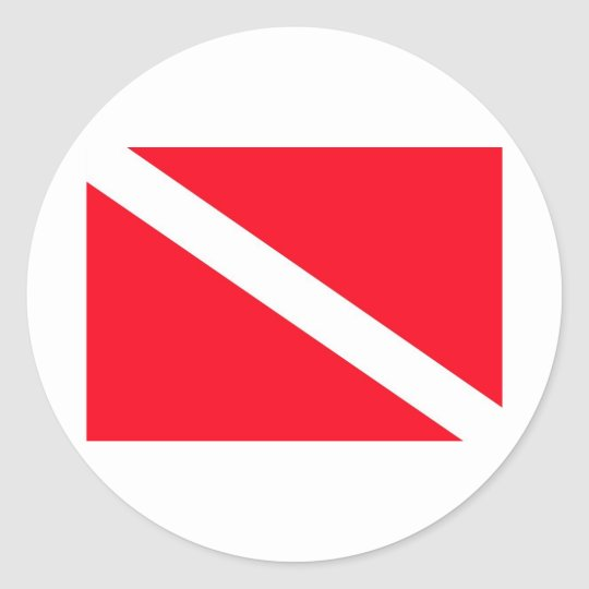 SCUBA Flag - Customisable Classic Round Sticker