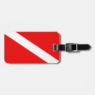 Scuba Flag Luggage Tag