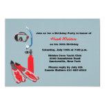 Scuba Gear Birthday Party Invitation