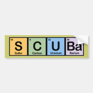 Scuba made of Elements Bumper Stickers