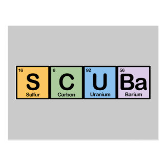 Scuba made of Elements Post Cards