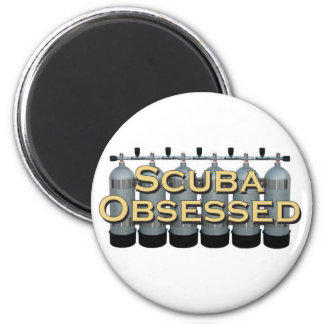 Scuba Obsessed Six Tank Magnet