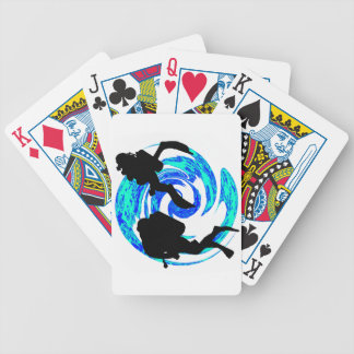 SCUBA ON ALWAYS BICYCLE POKER CARDS