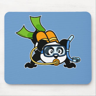 Scuba Panda Mouse Pad
