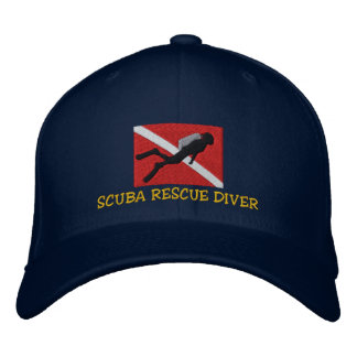 SCUBA Rescue Diver Embroidered Cap Baseball Cap