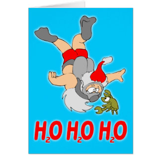 Scuba Santa Christmas Card