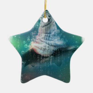 Scuba Seal Shark Life Funny Ceramic Star Decoration
