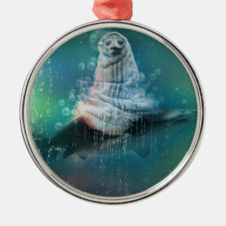 Scuba Seal Shark Life Funny Christmas Ornament