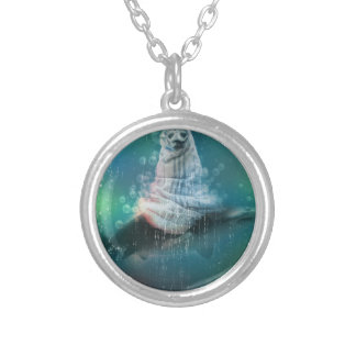 Scuba Seal Shark Life Funny Silver Plated Necklace