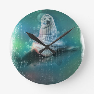 Scuba Seal Shark Life Funny Wallclocks