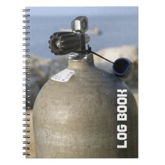 Scuba Tank Dive Log Book Note Books