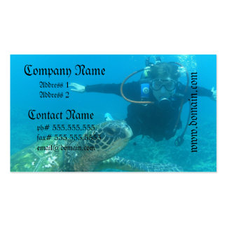 Scuba Underwater Life Business Cards