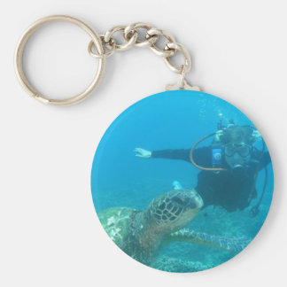 Scuba Underwater Life Keychain