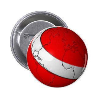 Scuba World 6 Cm Round Badge