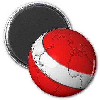 Scuba World 6 Cm Round Magnet