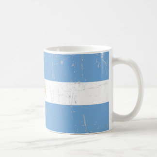Scuffed and Scratched Argentinian Flag Coffee Mug