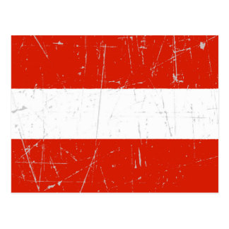 Scuffed and Scratched Austrian Flag Postcard