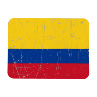 Scuffed and Scratched Colombian Flag Magnet