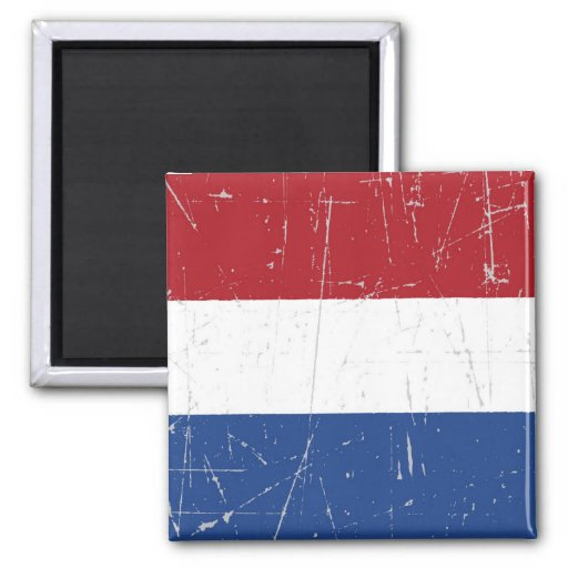 Scuffed and Scratched Dutch Flag Magnets