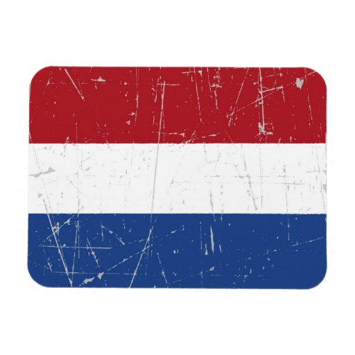 Scuffed and Scratched Dutch Flag Vinyl Magnets