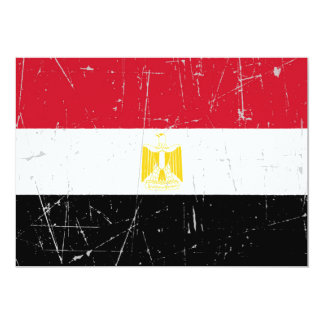 Scuffed and Scratched Egyptian Flag Cards