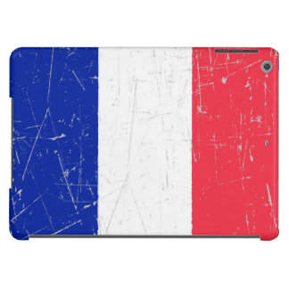 Scuffed and Scratched French Flag Case For iPad Air