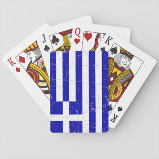 Scuffed and Scratched Greek Flag Playing Cards