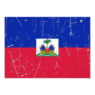 Scuffed and Scratched Haitian Flag 13 Cm X 18 Cm Invitation Card